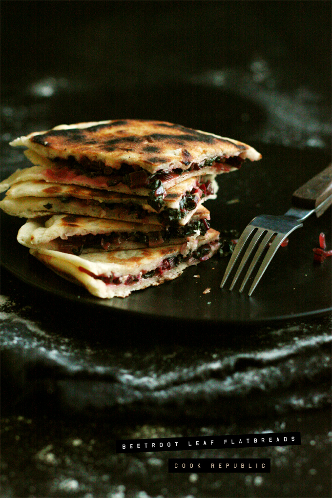 Beetroot Leaf Flatbreads - Cook Republic