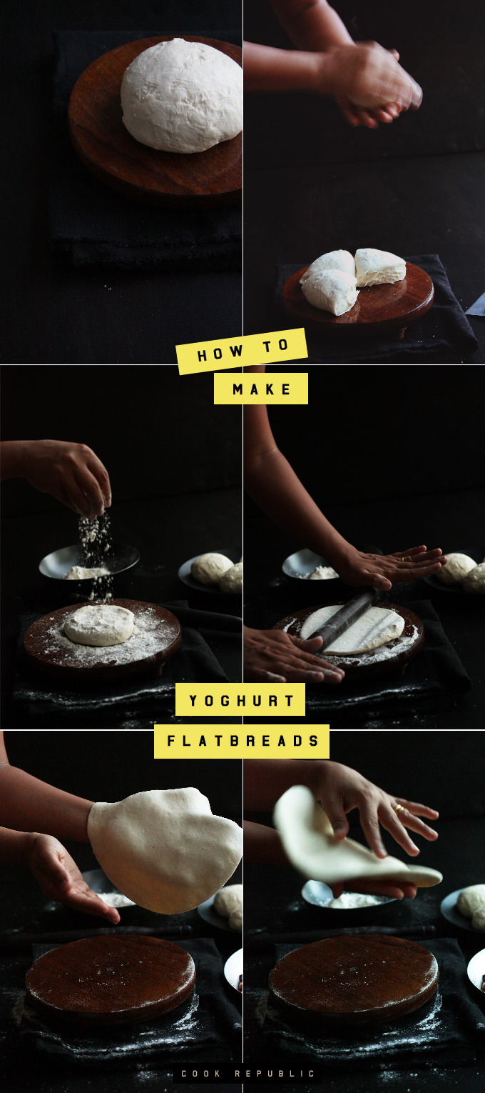 How To Make Yoghurt Flatbreads - Cook Republic