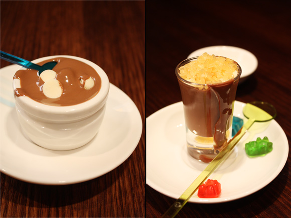 Chocolate Lick And Chocolate Shot With Exploding Candy at Max Brenner.