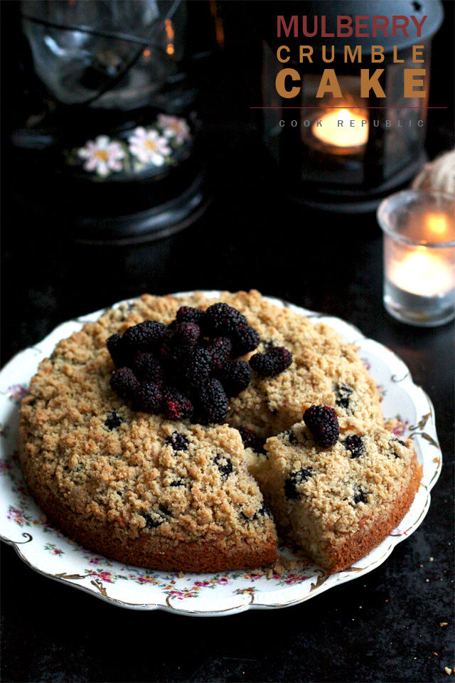 Mulberry Crumble Cake - Cook Republic