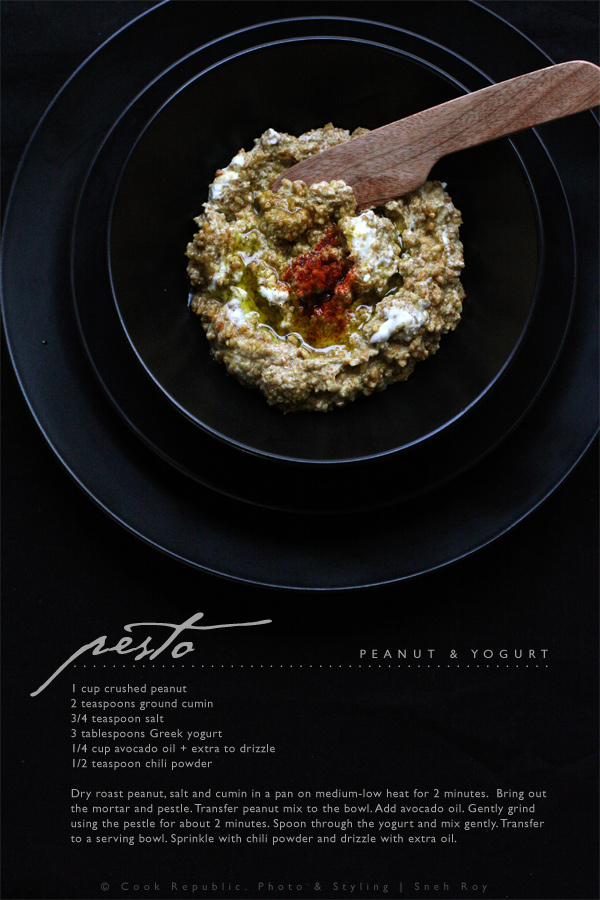 Peanut And Yogurt Pesto - Recipe Card