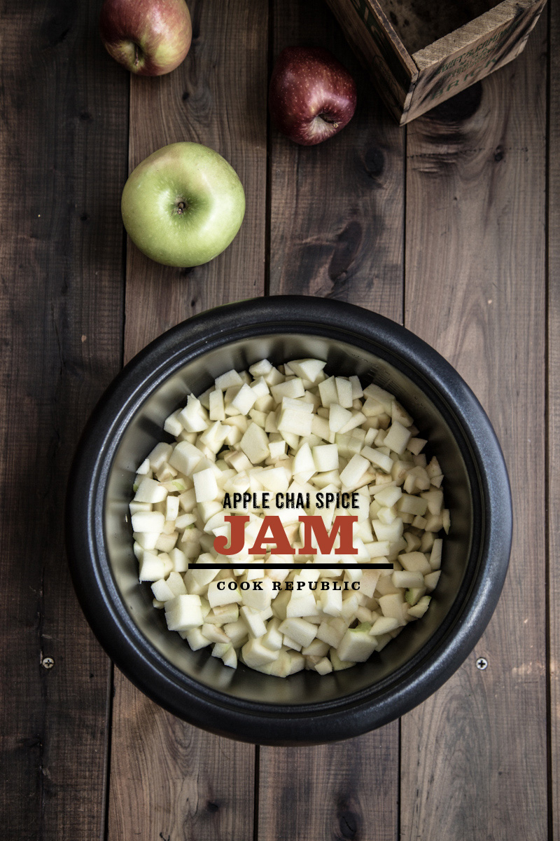 Rice Cooker Apple Jam With Chai Spices