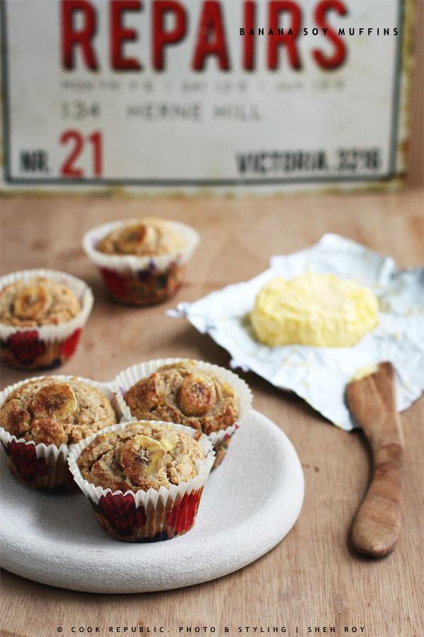 Banana Soy Muffins