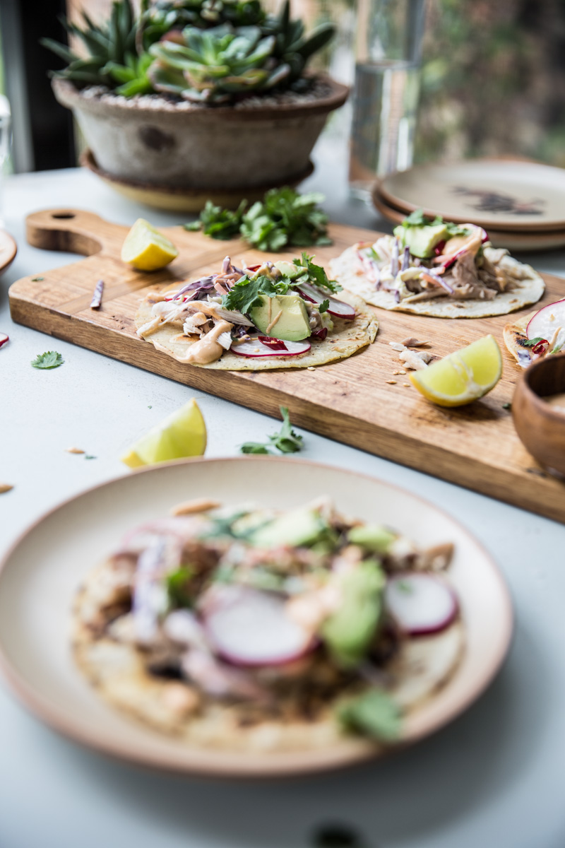 Barbecue Chicken Tostadas - Cook Republic