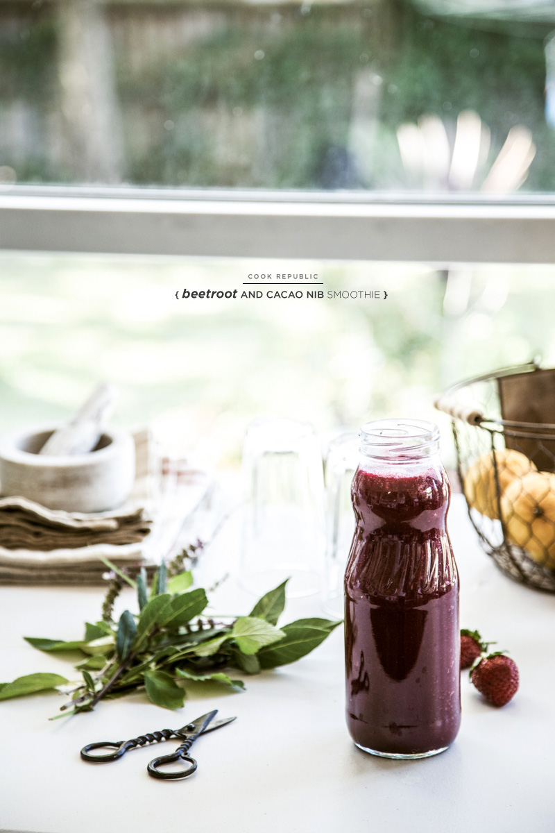 Beetroot And Cacao Nib Smoothie - Cook Republic