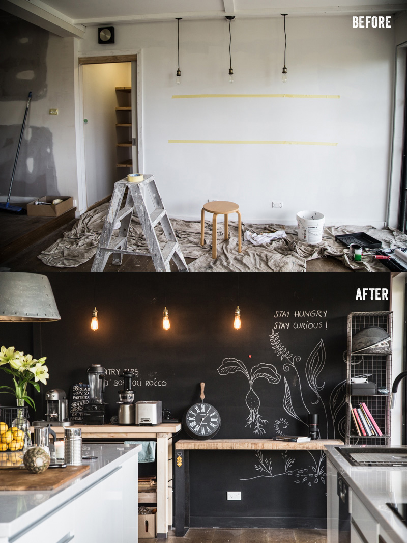Building a Chalkboard Magnetic Wall - Cook Republic