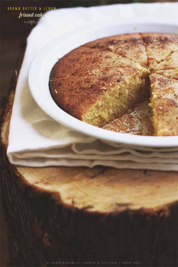 Brown Butter Lemon Friand Cake With Nutmeg