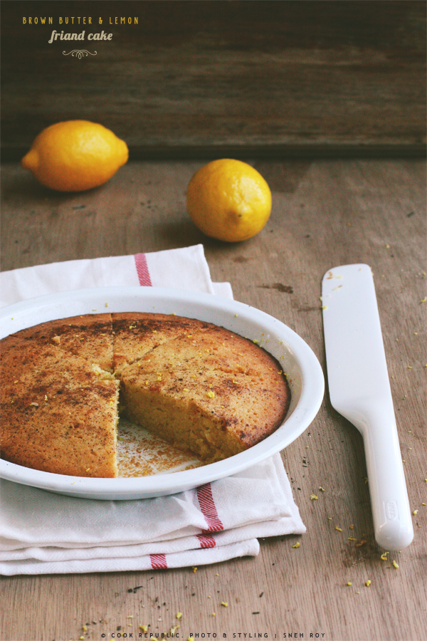 Brown Butter Lemon Friand Cake