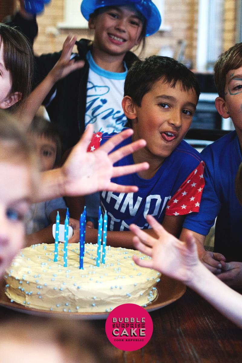 Rivs is 9! - Bubble Surprise Cake