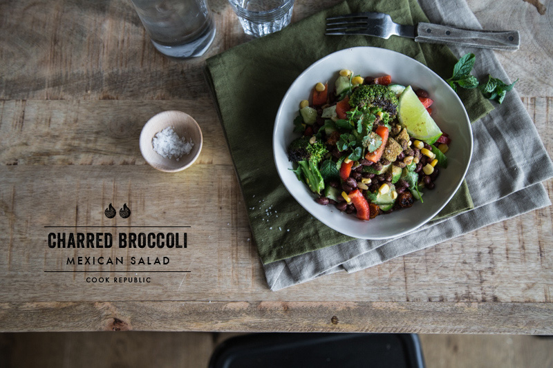Charred Mexican Broccoli Salad - Cook Republic