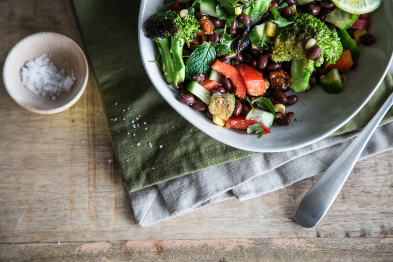 Charred Broccoli Mexican Salad - Cook Republic