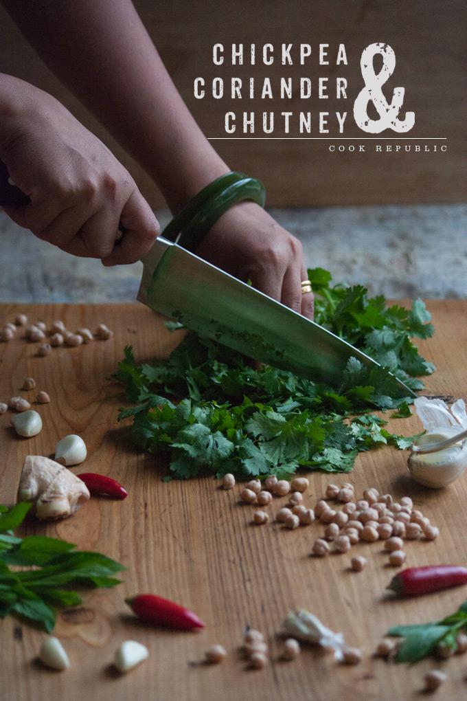 Chickpea & Coriander Chutney - Prep