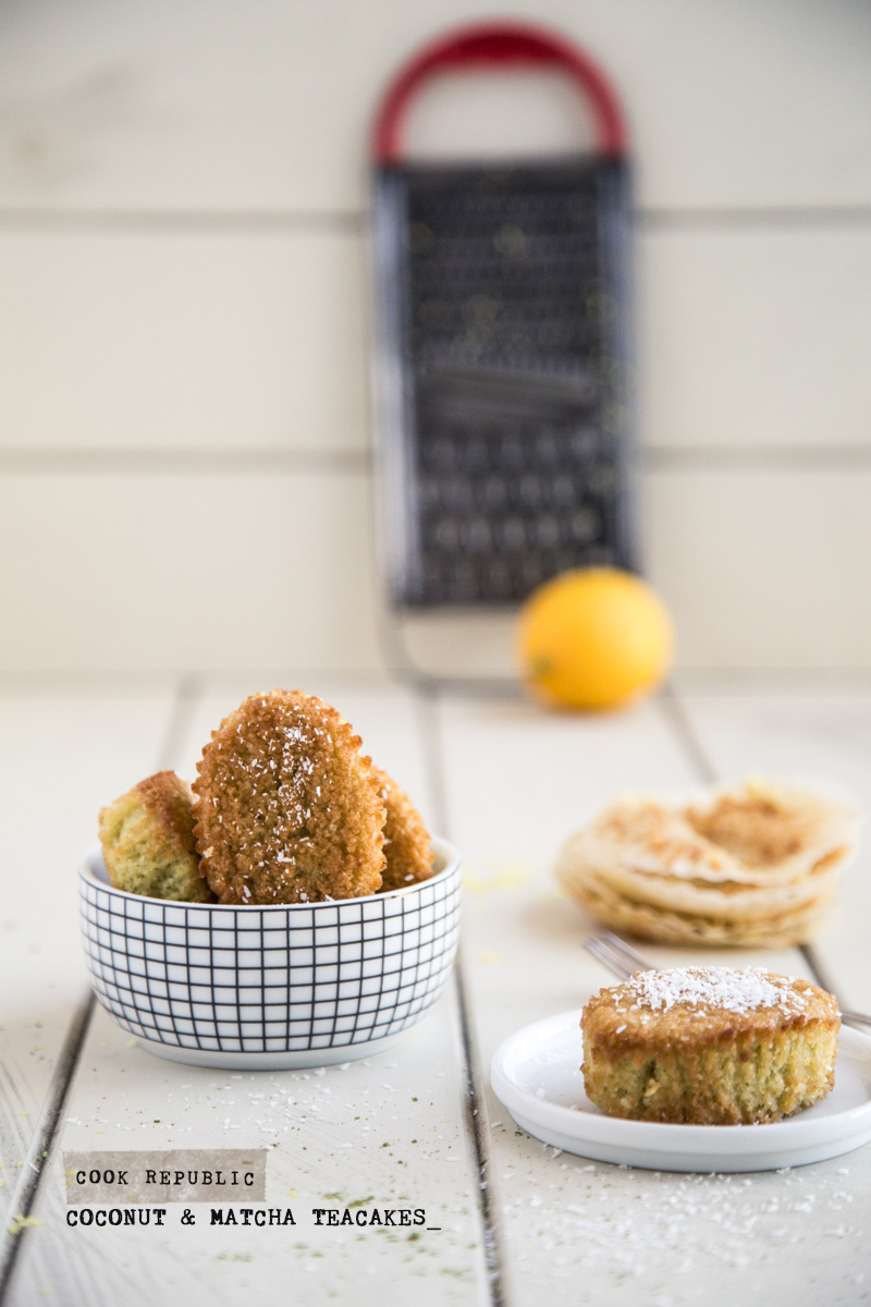 Coconut And Matcha Teacakes