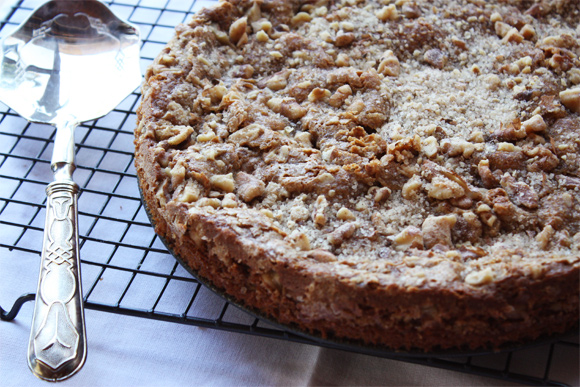 Coffee Cake With Cinnamon Walnut Crumble Cook Republic
