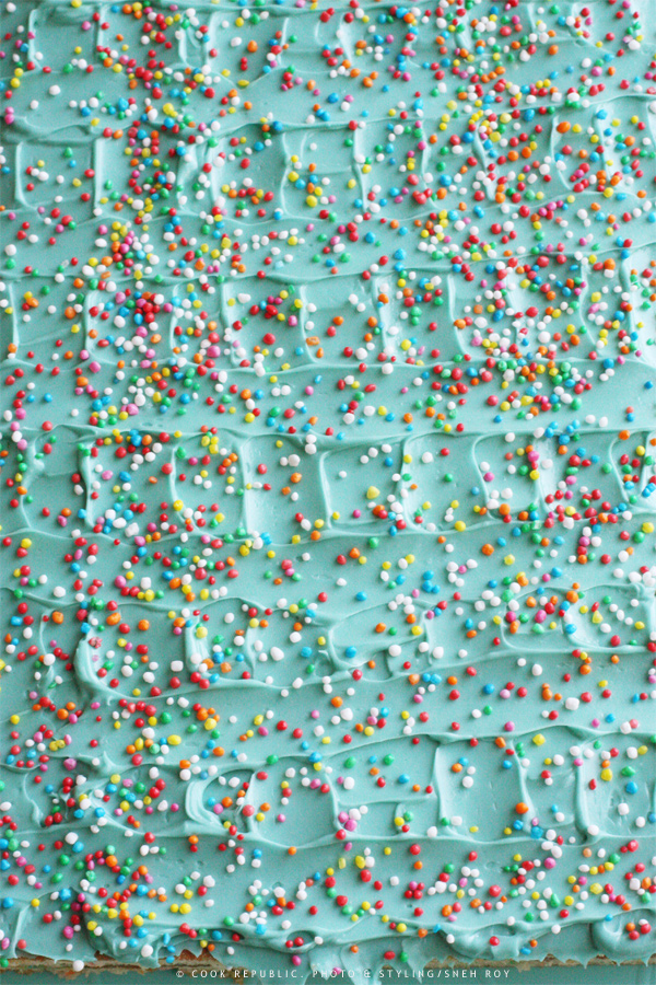 Confetti Layer Cake - Blue Icing And Hundreds & Thousands