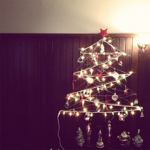 String And Light Christmas Tree - Cook Republic