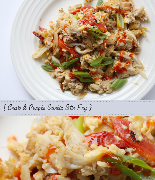 Crab And Purple Garlic Stir Fry