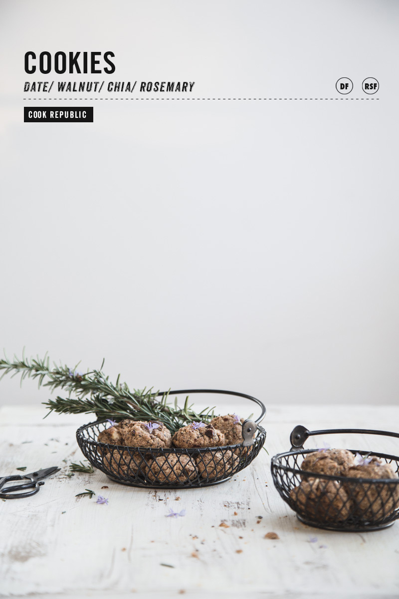 Date Walnut Chia And Rosemary Cookies - Cook Republic