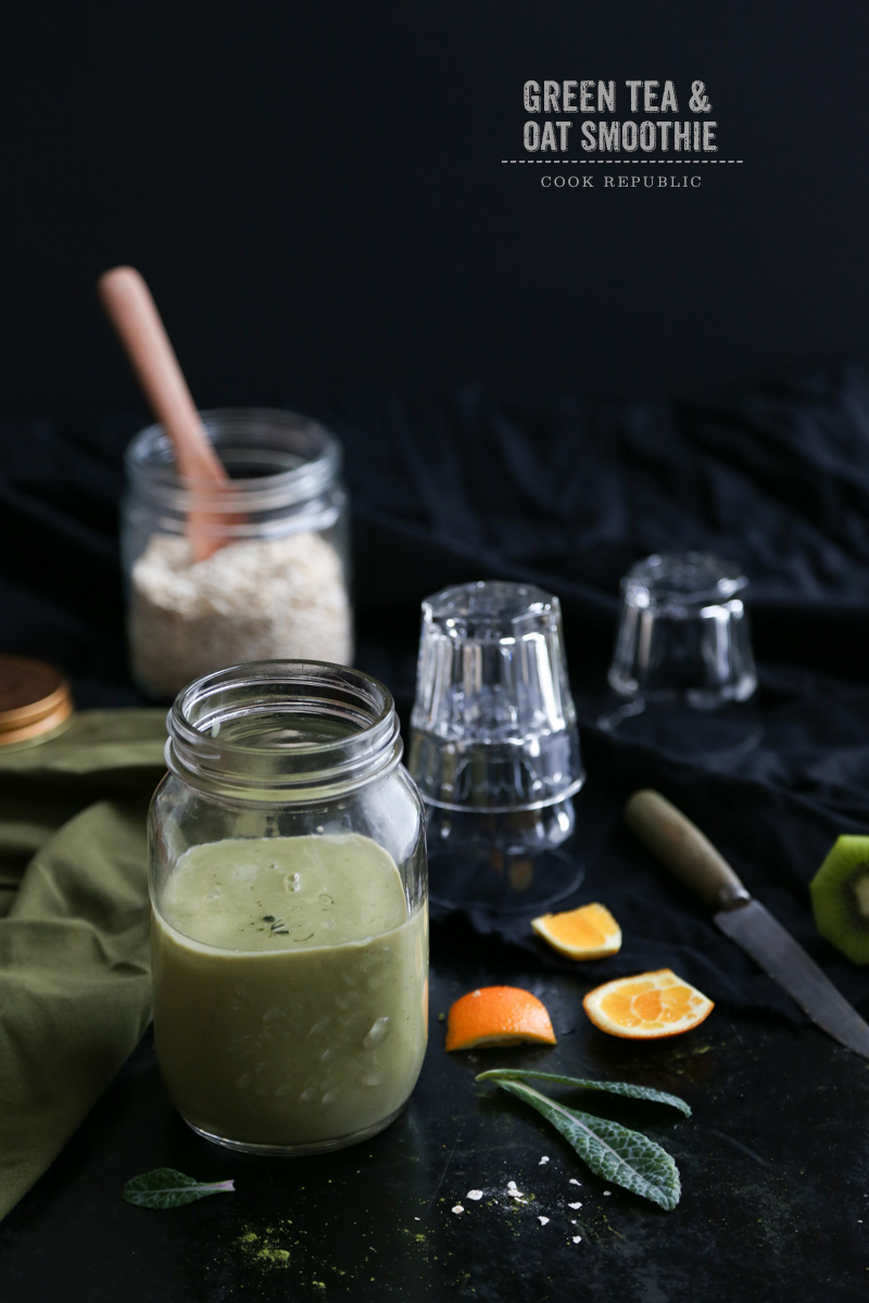 Green Tea And Oat Smoothie - Cook Republic