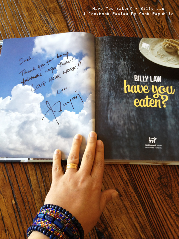 Have You Eaten? by Billy Law - Signed Copy!