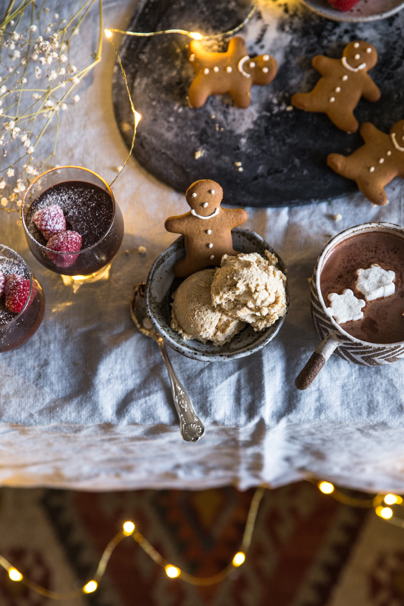 Gingerbread Tiramisu Ice Cream, Amaretti Mocha Mousse, Hot Cardamom Cacao - Cook Republic