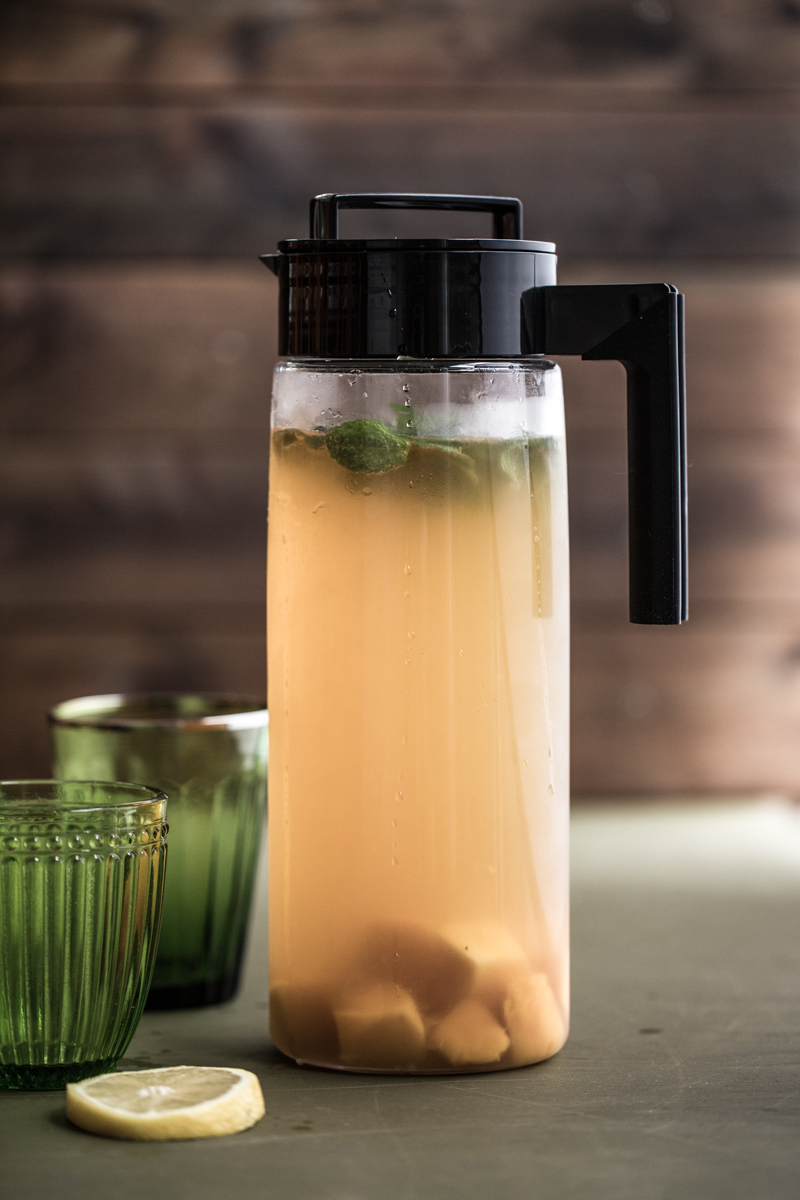 Homemade Iced Green tea With Mango - Cook Republic