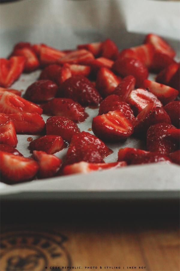 Marsala Strawberries - Roasting home grown strawberries