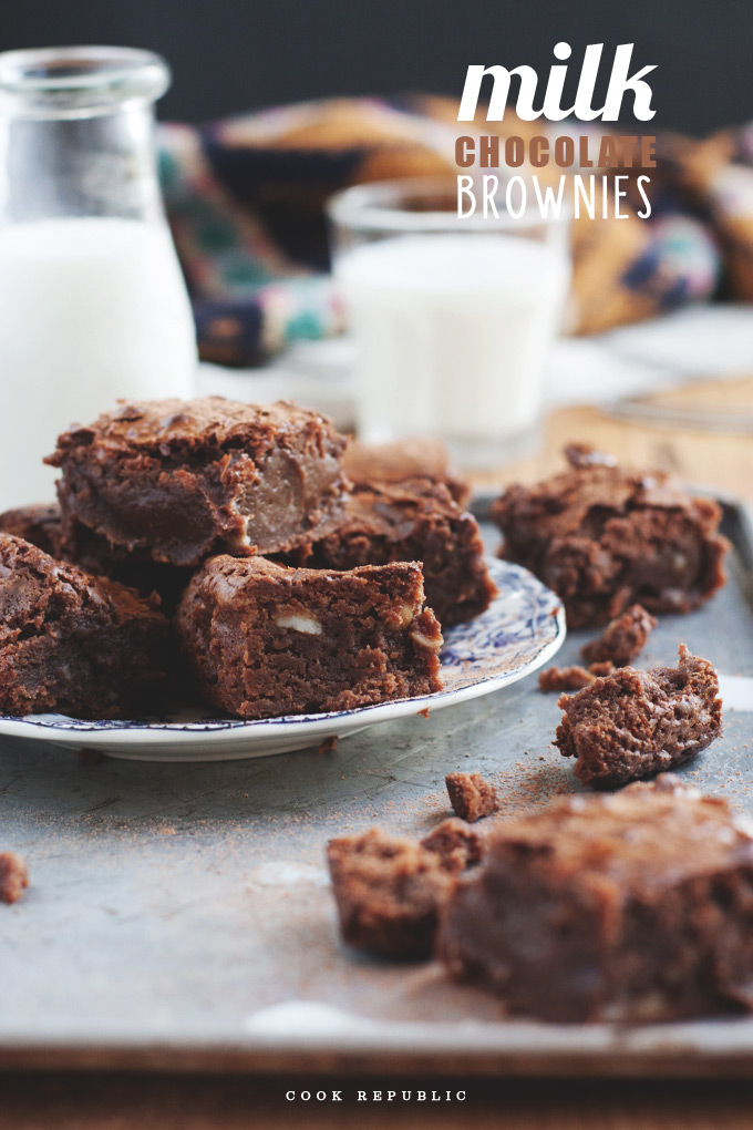 Milk Chocolate Brownies - Cook Republic