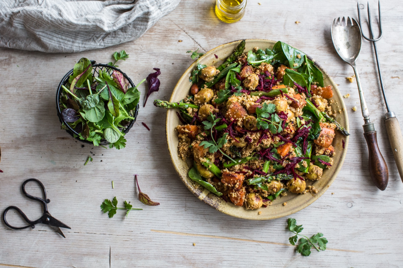 Turmeric Mushroom Salad With Beetroot And Sweet Potato - Cook Republic