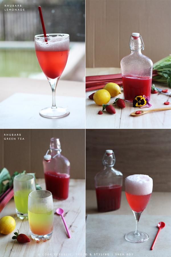 Rhubarb Lemonade & Rhubarb Green Tea