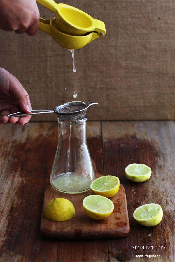 Making Nimbu Pani - Homemade Lemon Sherbet