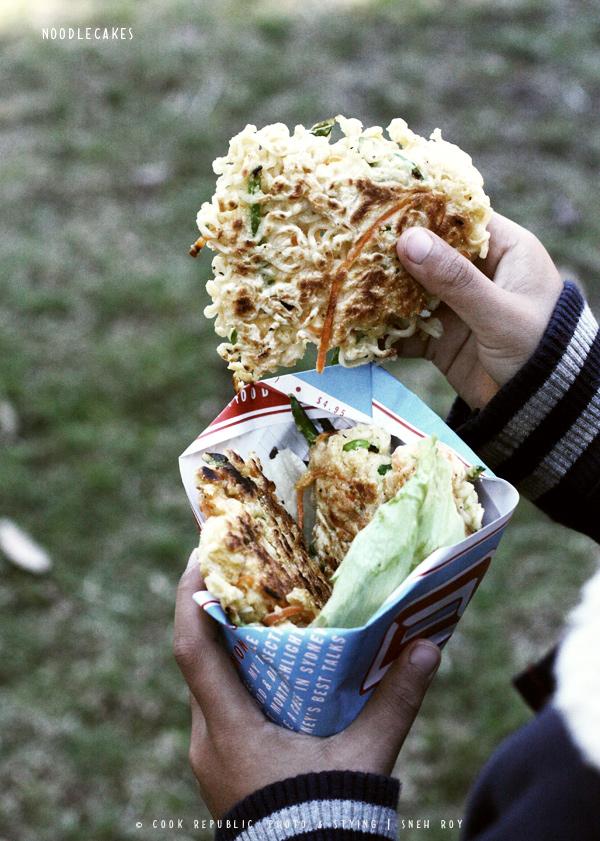 Noodlecakes - Crunchy Noodle & Veggie Pancake | Cook Republic