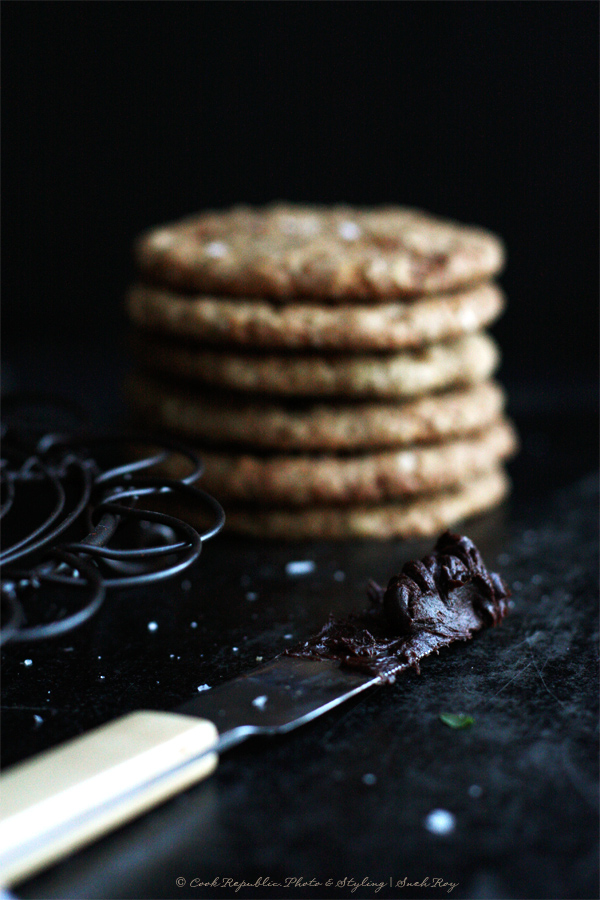 Salted Dark Chocolate Cookie Filling