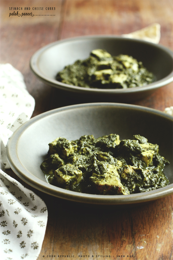 Palak Paneer - Indian Spinach And Cheese Curry