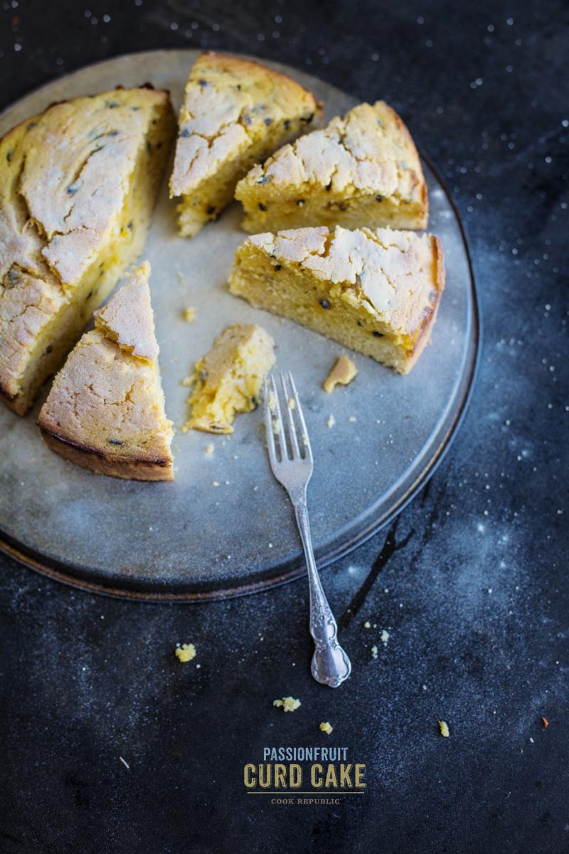 Passionfruit Curd Cake - Cook Republic