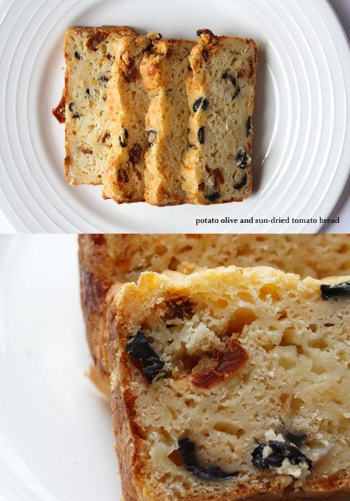 Potato Olive And Sun-Dried Tomato Bread