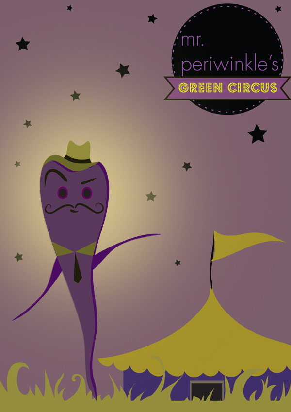 Mr Periwinkle The Showman Purple Carrot