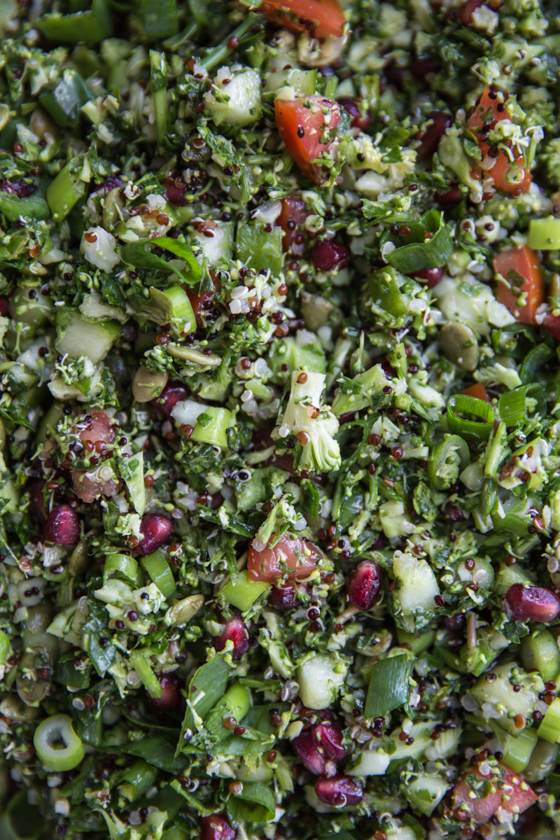 10 Min Vegan Raw Broccoli Tabouli - Cook Republic