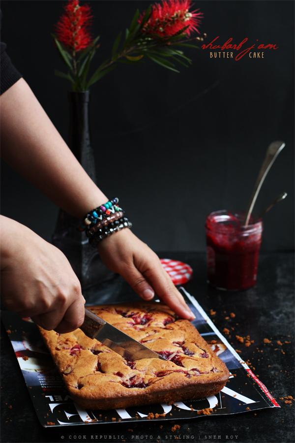 Rhubarb Jam Butter Cake