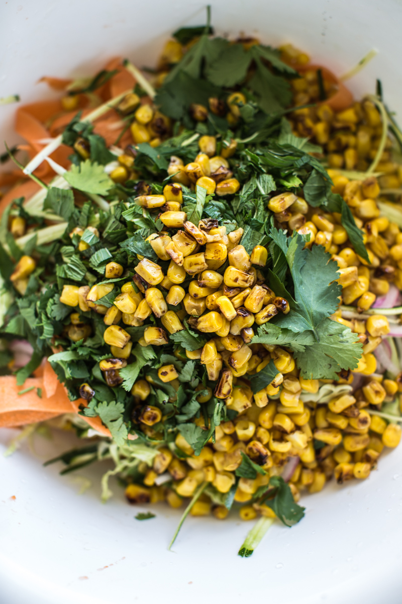 Ottolenghi's Roasted Corn And Zucchini Coleslaw - Cook Republic