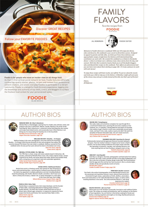 Cook Republic featured in the Foodie By Glam cookbook
