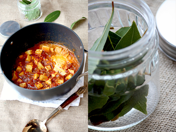 Shahi paneer And Fresh Bay Leaves