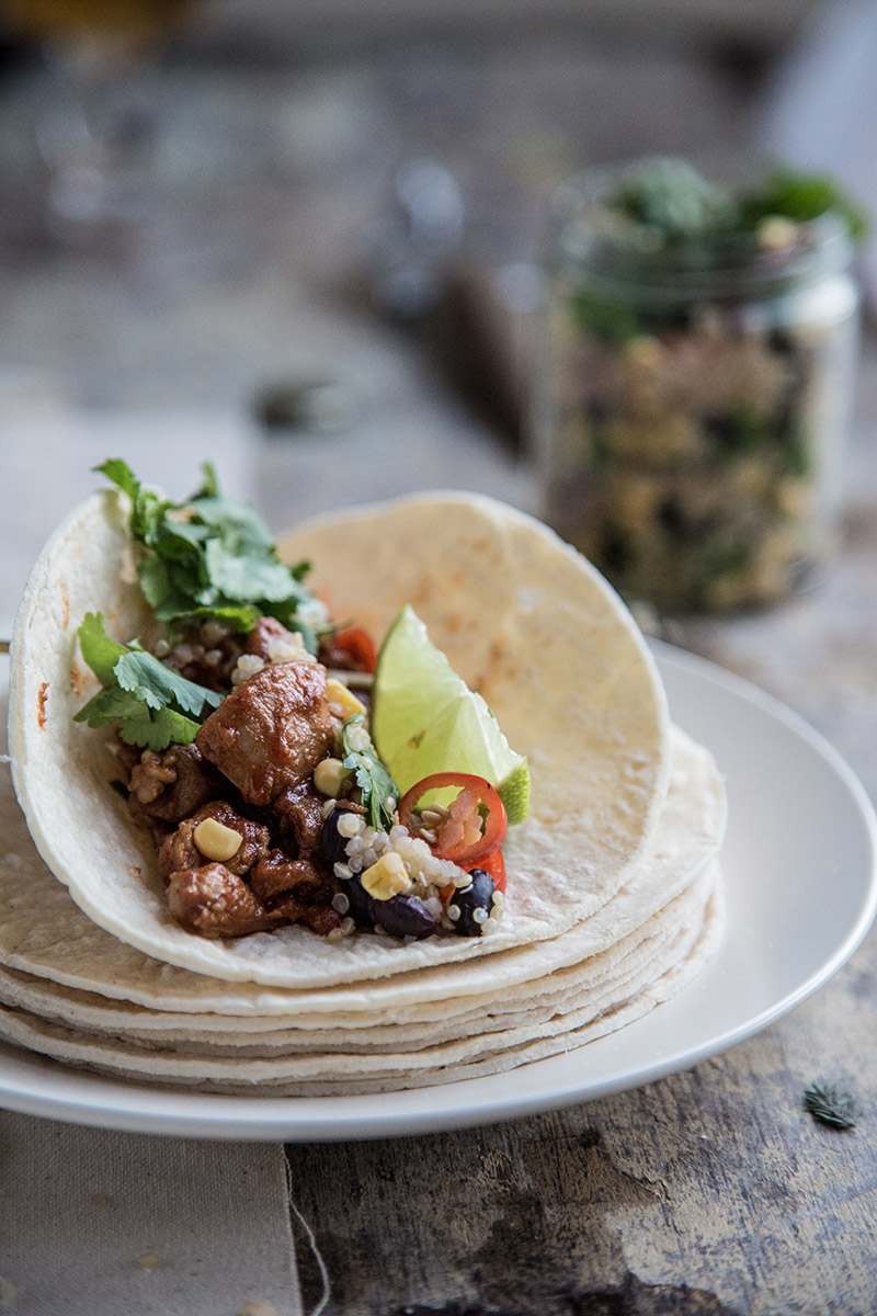 Smokey Lime Chicken Tacos - Sneh Roy, Photo