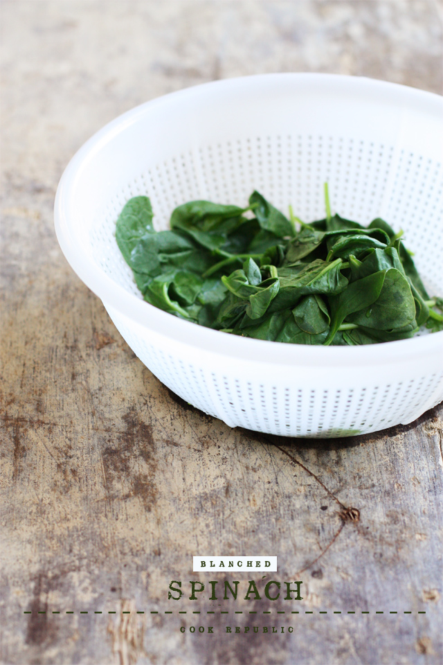 Blanched Spinach - Cook Republic