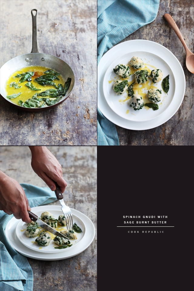 Spinach Gnudi With Sage Burnt Butter - Cook Republic