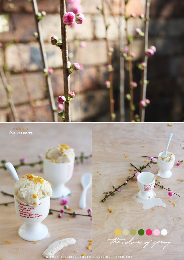 Cherry Blossoms. Spring. Cereal Milk Ice Cream.