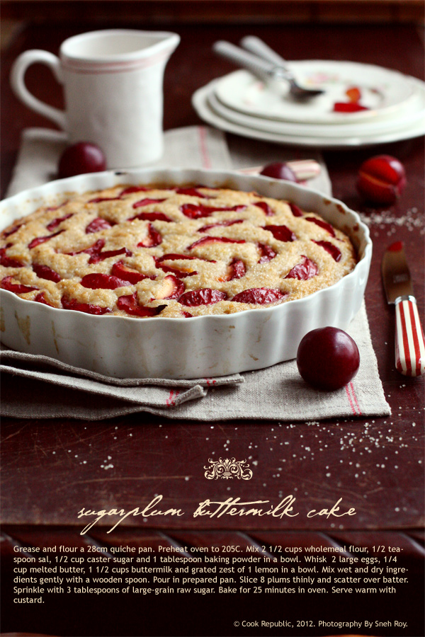 Sugarplum Buttermilk Cake Recipe