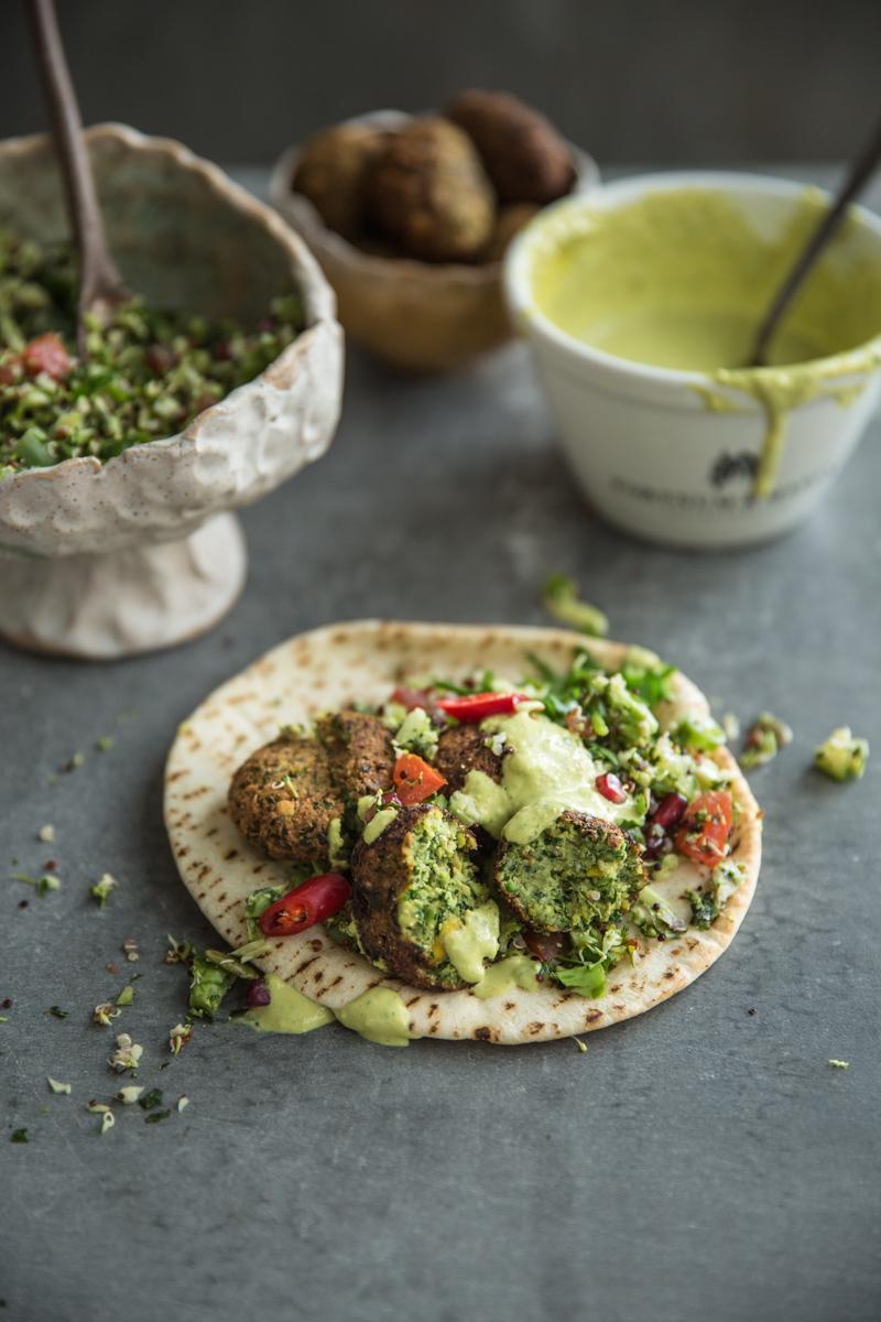 Super Green Falafel With Turmeric Tahini Sauce - Cook Republic