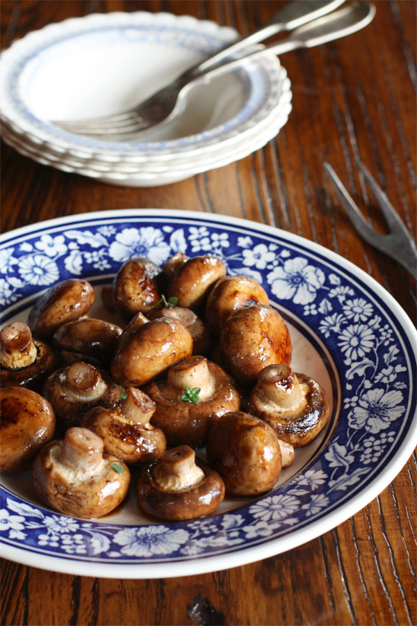 Swiss Mushrooms - chicken glazed
