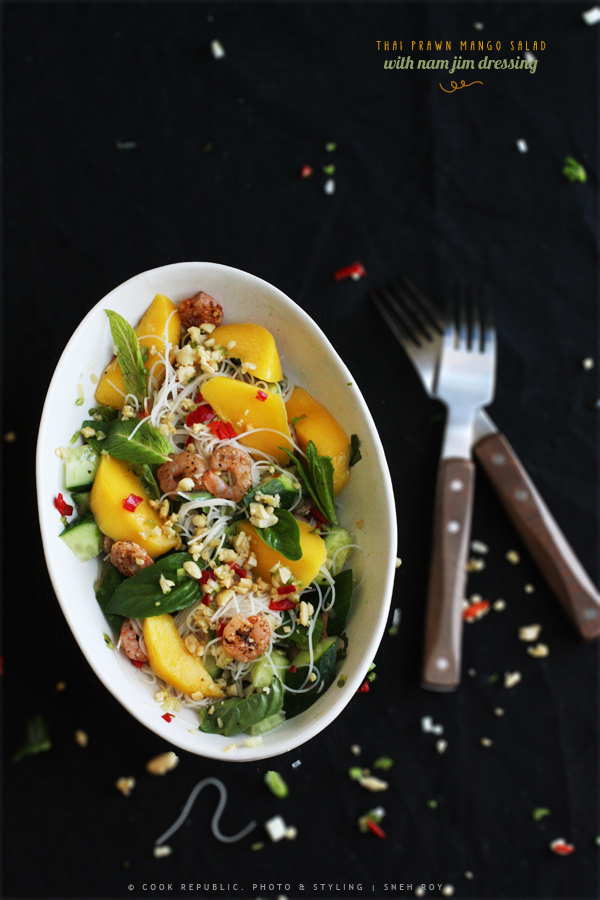 Thai Prawn Mango Salad With Nam Jim Dressing